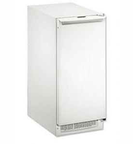 Enlarge U-Line BI2115W-00 2000 Series Built-in Ice Maker - White Cabinet with White Door