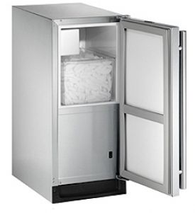 Enlarge U-Line BI2115SOD-01 Outdoor Ice Maker - Stainless Steel Cabinet with Stainless Steel Door - Left-Hand Hinge
