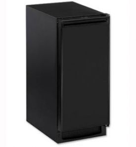 Enlarge U-Line CLR2160B-40 Echelon Clear Ice Maker - Black Cabinet with Black Door - Drain Pump