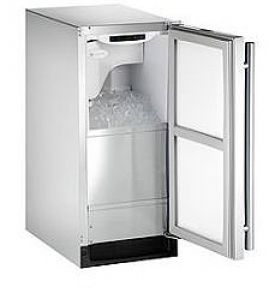 Enlarge U-Line CLR2160SOD-41 Outdoor Clear Ice Maker - Stainless Steel Cabinet with Stainless Steel Door - Left Hinge - Pump