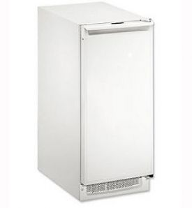 Enlarge U-Line CLR2160W-40 2000 Series Clear Ice Maker - White Cabinet with White Door - Drain Pump
