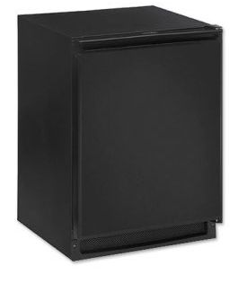 Enlarge U-Line CLRCO2175B-40 2000 Series Clear Ice Maker / 2.5 Cu. Ft. Refrigerator - Black Cabinet with Black Door - Drain Pump