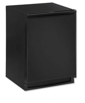 Enlarge U-Line CO2175FB-00 2000 Series Combo Refrigerator & Ice Maker - Black Cabinet with Black Door