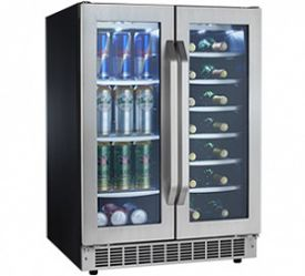 Enlarge Danby DBC7070BLSST French Door Dual Zone Beverage Center