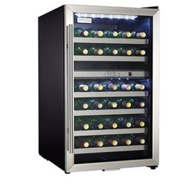 Enlarge Danby DWC114BLSDD 38 Bottle Dual Zone Wine Cooler - Stainless Steel Glass Door