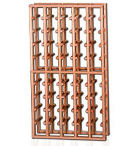 Enlarge Redrack 5 Column 50 Split Bottle Redwood Modular Wine Rack