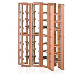 Enlarge Redrack Curved Corner 32 Bottle Redwood Modular Wine Rack