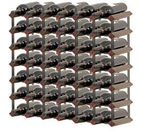 Enlarge Bordex 42 Bottle Wine Rack - Cherry Finish