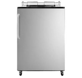 Enlarge Summit SBC490NKSSTB Full-Size Kegerator (Cabinet Only) - Black with Stainless Steel Door - Tap Hardware Not Included