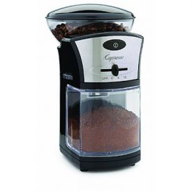 Enlarge Capresso 559.04 Disk Type Burr Grinder - Black ABS Housing