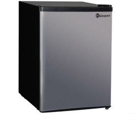 Enlarge Kegco MDC240-1BS - 2.4 CF Compact Refrigerator - Black Cabinet with Stainless Steel Door