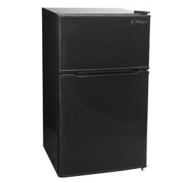 Enlarge Kegco MDC315-2BB - 3.1 CF Two Door Counterhigh Dorm Refrigerator - Black