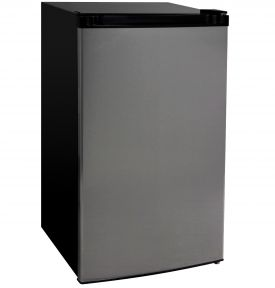Enlarge Kegco MDC445-1BS - 4.4 Cu.Ft. Counterhigh Refrigerator - Black Cabinet with Stainless Steel Door