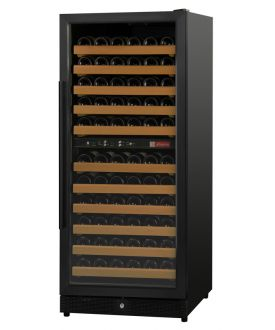 Enlarge Allavino MWR-1212-BL 121 Bottle Dual-Zone Wine Cellar Refrigerator - Black Cabinet and Door - Left Hinge - Straight Handle