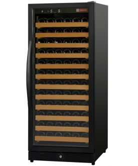 Enlarge Allavino MWR-1271-BL-C 122 Bottle Wine Cellar Refrigerator - Black Cabinet and Door - Left Hinge