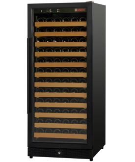Enlarge Inventory Clearance - Allavino MWR-1271-BR 122 Bottle Wine Cellar Refrigerator - Black Cabinet and Door - Right Hinge - Straight Handle