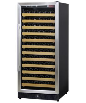 Enlarge Allavino MWR-1271-SSL 122 Bottle Wine Cellar Refrigerator - Bottle Single-Zone  Black Cabinet with Stainless Door - Left Hinge