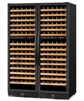 Enlarge Allavino MWR-2X1682-BB 340 Bottle Multi Zone Wine Cellar - Black Cabinet and Door