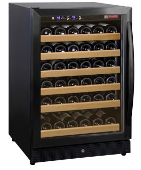 Enlarge Allavino MWR-541-BL-C 51 Bottle Wine Cooler Refrigerator - Black Cabinet with Black Door and Curved Handle