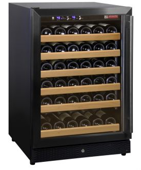Enlarge Allavino MWR-541-BL 51 Bottle Wine Cooler Refrigerator - Black Cabinet with Black Door and Straight Handle