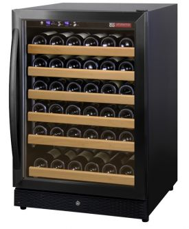 Enlarge Allavino MWR-541-BR-C 51 Bottle Wine Cooler Refrigerator - Black Cabinet with Black Door