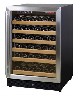Enlarge Allavino MWR-541-SSR 51 Bottle Wine Cooler Refrigerator - Black Cabinet with Stainless Steel Door