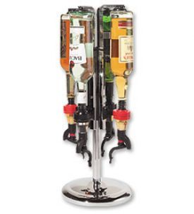 Enlarge Oggi 7170 Professional 4 Bottle Revolving Liquor Dispenser