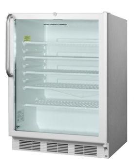 Enlarge Summit SCR600LCSS 5.5 cf Glass Door All Refrigerator