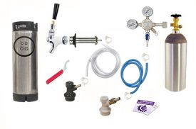 Enlarge Kegco One Keg Door Mount Homebrew Kegerator Kit - Ball Lock