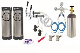 Enlarge Kegco Two Keg Door Mount Homebrew Kegerator Kit - Ball Lock