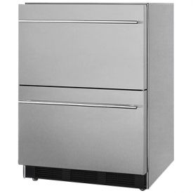 Enlarge Summit SP6DS2D7ADA Stainless Steel 2-Drawer Refrigerator, ADA Compliant - ETL-S Listed
