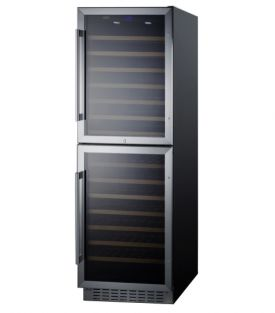 Enlarge Summit SWC1875B 118 Bottle Dual Zone Wine Refrigerator