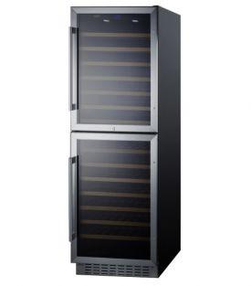 Enlarge Summit SWC1875B 118 Bottle Dual Zone Wine Refrigerator