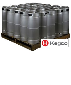 Enlarge Pallet of 25 Kegco MK-K5G-DDI Kegs - 5 Gallon Commercial Keg with Micromatic Drop-In D System Sankey Valve