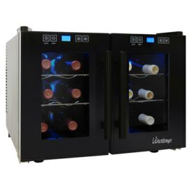 Enlarge Vinotemp VT-12TEDTS-2Z 12-Bottle Dual-Zone Thermoelectric Wine Cooler