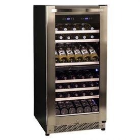 Enlarge Avanti WCR8500SDZ 85 Bottle Dual Zone Wine Cooler - Black Cabinet & Stainless Steel Door