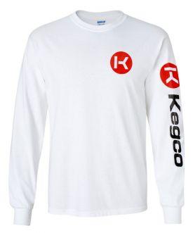 Enlarge Kegco Long Sleeve T-Shirt - White XL