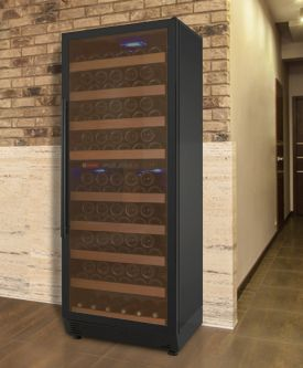 Enlarge Allavino YWR-27DZ-BRT Vite Series 99 Bottle Dual-Zone Wine Refrigerator - Black Door with Towel Bar Handle