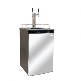 Enlarge Kegco K199SS-2 Dual Faucet Kegerator with Black Cabinet and Stainless Steel Door