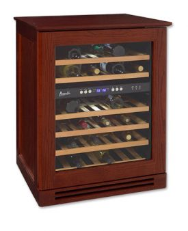 Enlarge Avanti WCR534WDZD-M 46 Bottle Wood Cabinet Dual Zone Wine Cooler - Mahogany
