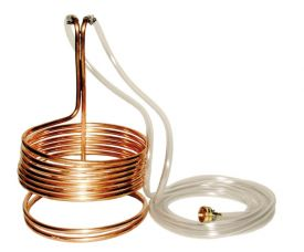 Enlarge Standard Wort Immersion Chiller with garden hose fittings - 3/8
