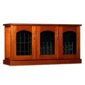 Enlarge Le Cache Contemporary Credenza - 115 -Bottle Wine Cellar - Provincial Finish