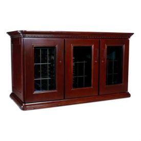 Enlarge Le Cache European Country Euro Credenza 180-Bottle Wine Cellar - Classic Cherry Finish