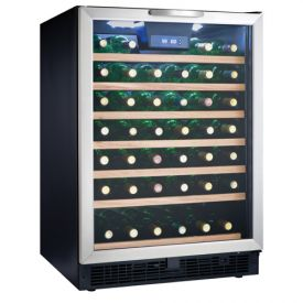 Enlarge Danby DWC508BLS 50 Bottle Built-in Wine Refrigerator w/ Stainless Steel Door
