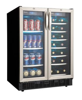 Enlarge Danby DBC2760BLS Built-In 27-Bottle, 60-Can Dual Zone Beverage Center