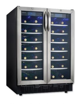 Enlarge Customer Return - Danby DWC2727BLS Dual Zone 54-Bottle Wine Refrigerator
