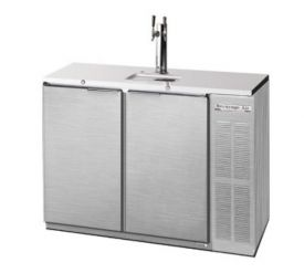 Enlarge Beverage-Air DD48Y-1-S Two Keg Commercial Kegerator - Stainless Steel