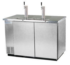 Enlarge Beverage-Air Kegerator DD58-S Commercial 3-Keg Beer Cooler - Stainless Steel