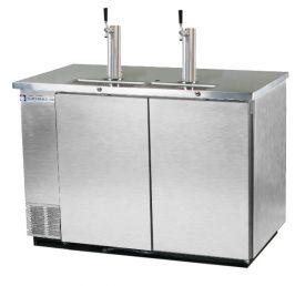 Enlarge Beverage-Air Kegerator DD58-S Commercial 3-Keg Beer Cooler - Stainless Steel
