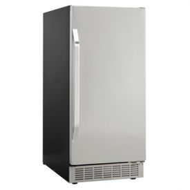 Enlarge Danby DIM3225BLSST Silhouette 32 lbs. Built-in Ice Maker - Black Cabinet with Stainless Steel Door